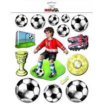 3 D Sticker Fussball XXL 30x30 cm