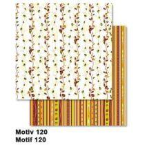 Streifen  und Blätter Scrappapier 30,5 x30,5 cm