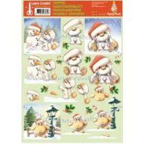 Mylo & Friends 1 St. Ausschneidebogen Nr. 13 Weihnachten