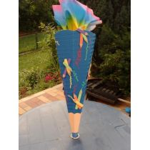 Schultüte Buntstift in Handarbeit für Sie hergestellt, jetzt neu mit Glittermoosgummi