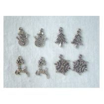 Embellishments Charms 4x2 st. Winter