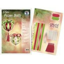 Designstreifen Mini Paper Balls Classic Ornaments