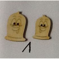 Holzknopf Kondomi Design 1