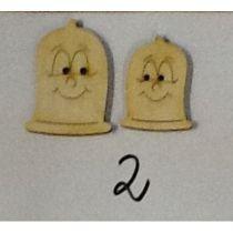 Holzknopf Kondomi Design 2
