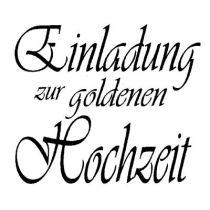 Schriftstempel Einladung zur goldenen Hochzeit