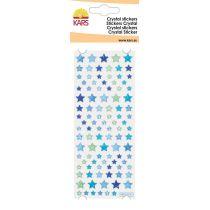 Chrystal-Sticker Stern, blau, Expoxysticker