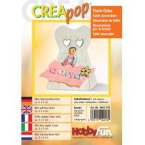 CREApop®Mini-Geschenkbox Herz; 9x6 cm,2 St.