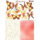 Schmetterlinge rot