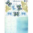 Schmetterlinge Marianne Design blau/grün