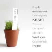 Worte wachsen lassen - Saatgut mit Sticker