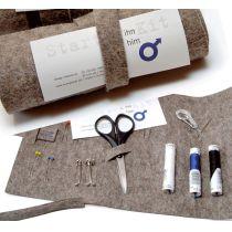 Starter-Kit für Ihn - Filzrolle mit Nähzeugs
