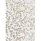 Dekostoff Organzaranken weiss/ silber, 29cm x 1 m