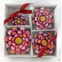 Keramik  Blumen Gerbera Set 4 Größen niedliche farbenfrohe Blumen