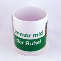 Tasse Immor mid dor Kaffeetasse Sachsen Porzellan Sachsen