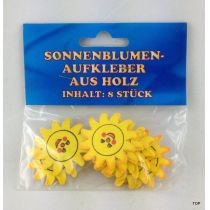 Sonnenblumen Aufkleber aus Holz Holzsticker Streudeko Tischdeko