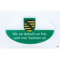 Aufkleber Sachsen Mir sei deitsch un frei, weil mor Sachsen sei!