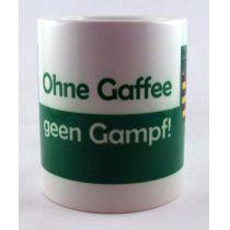 Tasse Ohne Gaffee gen Gampf Kaffeetasse Sachsen Porzellan