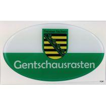 Aufkleber Sachsen Gentschausrasten echten Sachsen Autofahrer