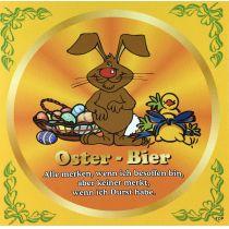 Aufkleber Flaschenetikett Osterbier Spruch Bierflasche Top!