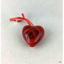 Herz klein  mit Rosenmuster und Aufhänger Geschenkidee Dekoration