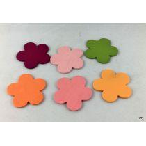 Blumen Aufkleber aus Holz Holzsticker Streudeko Tischdeko