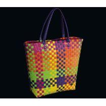 Shoppingbag Fashion multicolor Tasche Einkaufstasche Korb Korbtasche Flechttasche bunt Shopper