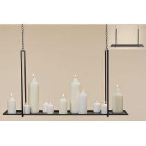 Deckenhänger 100 cm Hängeregal rechteckig hängen Teelichthalter Kerzenhalter Hänger Dekoration