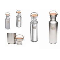 Trinkflasche Reflect Kinderflasche Sportflasche Flasche Edelstahlflasche Bambus-Cap