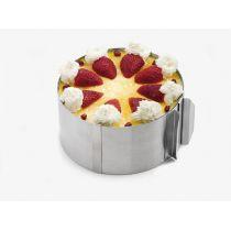Tortenring verstellbar stufenlos Edelstahl Torte Torten Ring Backform