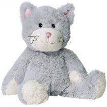 Warmies Katze grau Wärmflasche Kirschkernkissen Kuscheltier Wärmekissen Wärmetier