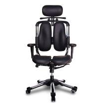 Harastuhl Bürostuhl NWL M-117 schwarz Kunstleder geteilte Rückenlehne Chefsessel
