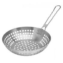 Grillwok Grill-Wok Pfanne Wokpfanne Edelstahl Grillen Wok