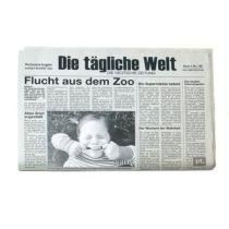 Tischset Newspaper 2er Set inkl. Bilderrahmen Tischset Bilderrahmen witzige Geschenkidee Platzsets