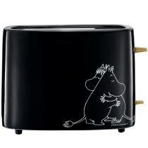 Adexi Moomin Keramik Toaster schwarz Mumin Design Finnland Kabelaufbewahrung
