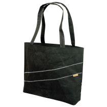 Zuperzozial Einkaufstasche Schultertasche Shoppingtasche schwarz aus Naturfasern