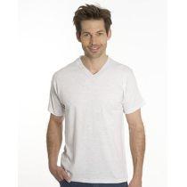 SNAP T-Shirt Flash Line V-Neck Unisex, asche, Gr. M
