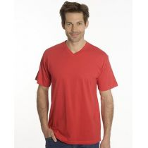 SNAP T-Shirt Flash Line V-Neck Unisex, rot, Gr. S