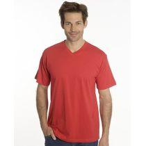 SNAP T-Shirt Flash Line V-Neck Unisex, rot, Gr. M