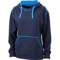 JN Ladie´s Lifestyle Zip-Hoody Navy - Cobalt, Grösse S