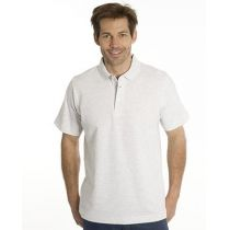 SNAP Polo Shirt Star - Gr.: L, Farbe: asche