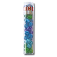 Zometool Tube, 34 Bälle, blau/grün, Ergänzungsset