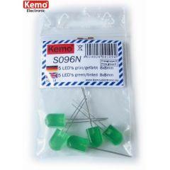 Kemo LED 8x8mm grün gefärbt ca. 5 Stück
