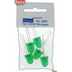 Kemo LED Ø 10mm grün ca. 5 Stück