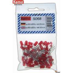 Kemo LED Ø 5mm rot ca.50 Stück
