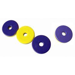 Ring Magnete farbig mit Nord-Südpol Markierung, 4 Stück