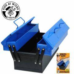 KIDS AT WORK Werkzeugkasten aus Metall, blau