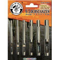 KIDS AT WORK Lochstanzen Set 3-8mm, 6 Stück