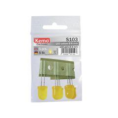 LED Ø 8mm gelb ca. 5 Stück