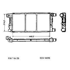NEU + Kühler Fiat Cinquecento S / IE 0.9 Schaltgetriebe - 9.91 - 8.xx - Fiat Seicento S / SX / Citymatic / Sui
