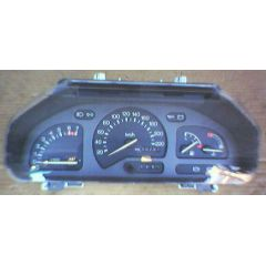 Armaturen Einsatz Ford Fiesta / Courier 81 / 85 Display weiß 220 km/h / Tacho / Tank Anzeige / Temperatur Anze